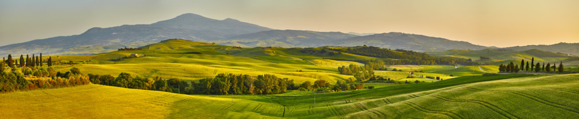 Printed kitchen splashbacks Hill Tuscany hills, panorama shoot