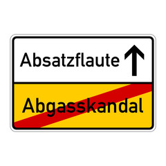 ortsschild abgasskandal abstazflaute I