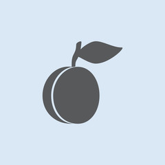Plum vector icon