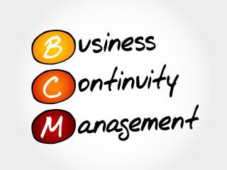 BCM - Business Continuity Management, acronym business concept