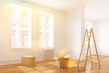 Umzug in eine sonnige Wohnung