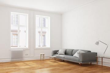 Sofa in einem Wohnzimmer