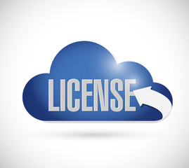 license cloud sign concept illustration
