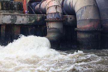 industrial outflow of contamination water effluent