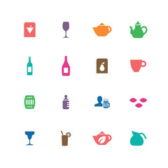 drinks icons universal set