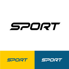 Sport word text logo