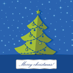 Christmas tree applique vector background.
