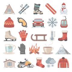 Flat Icons - Winter