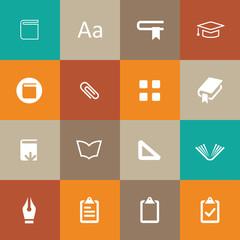 books icons universal set