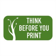 logo think before you print I