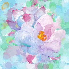Vector Floral Watercolor organic seamless pattern