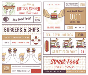 Fast food badges and icons colored 4