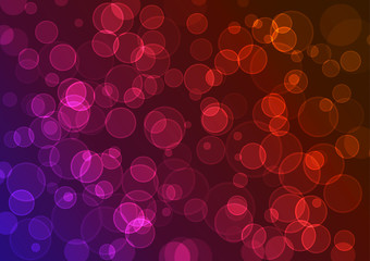 Vector colorful background. Effect bokeh.