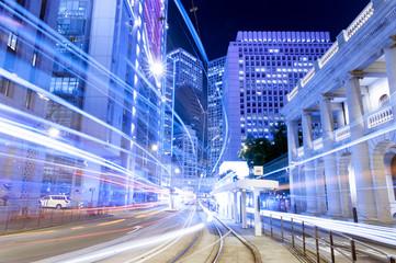 Hong Kong Night Car Trail