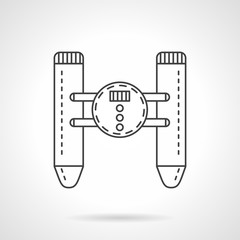 Remote control device flat line vector icon