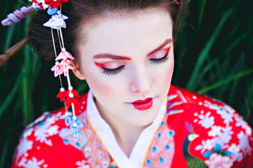 Geisha makeup