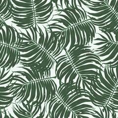 Floral Palm Leaf Seamless Pattern