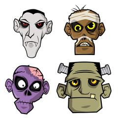 Various monster head