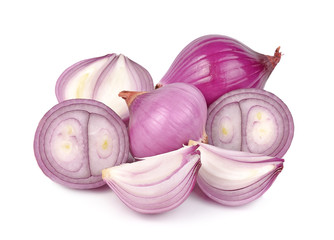 shallots isolated on white background