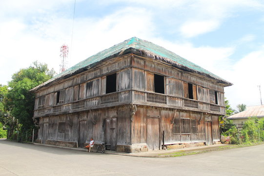 Old colonial Spanish house in the Philippines photo