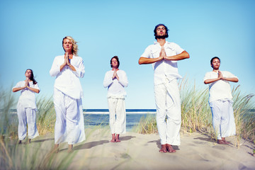 Meditation Yoga Wellness Peaceful Relaxation Concept