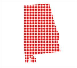 Red Dot Map of Alabama