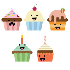 Smiling Cupcake with different variation and color