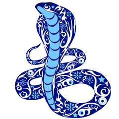 snake with drawing, a cobra  the wild animal kowtowing with a beautiful pattern,  flora of the desert, asp with a tail, a cobra with the opened hood