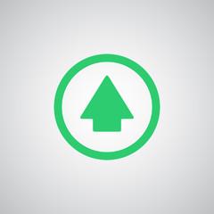 Flat green Arrow Up icon