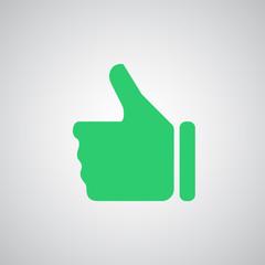 Flat green Thumb Up icon