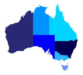 Australia State Silhouette