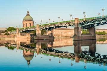 Canvas Prints Bridge The Saint-Pierre bridge in Toulouse, France.