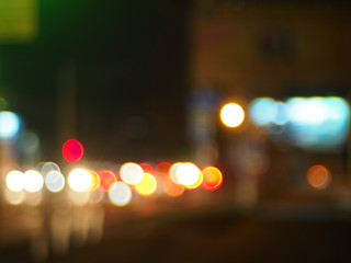 Abstract image of a night city scene