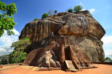 Sigiriya Lion Rock Fortress in Sri Lanka Wall mural