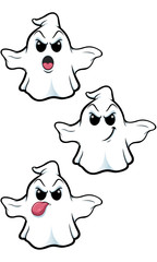 Mean Cartoon Ghost - Set 4