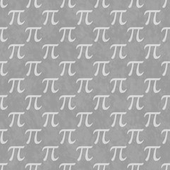 Gray Pi Symbol Design Tile Pattern Repeat Background