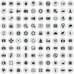photography 100 icons universal set