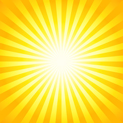 Bright sunbeams, shiny summer background