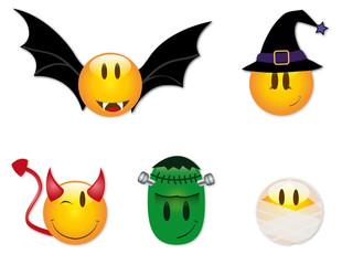 Halloween Smiley Sammlung