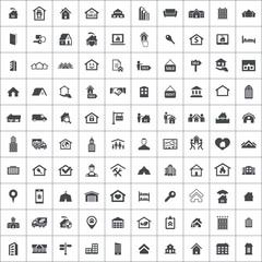 real estate 100 icons universal set