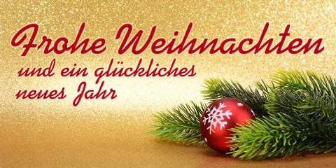 Frohe Weihnachten Und GlГјckliches Neues Jahr