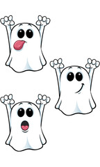 Cartoon Ghost Character - Set 1