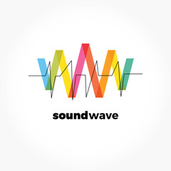 Sound wave symbol logo.