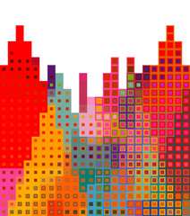 Abstract city silhouette background illustration