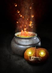 Kürbis Halloween - Zauberkessel Bubble