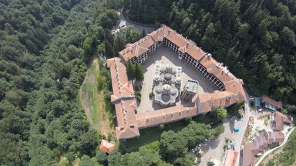 The Rila Monastery Rila Monastery Rila Monastery from the air aerial photography drone dji goPro Ivan Rilski