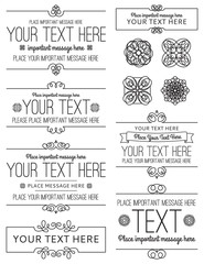 Labels and Design Elements