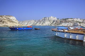 Barche ormeggiate alle Tremiti