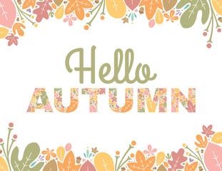 Hello Autumn Text Background