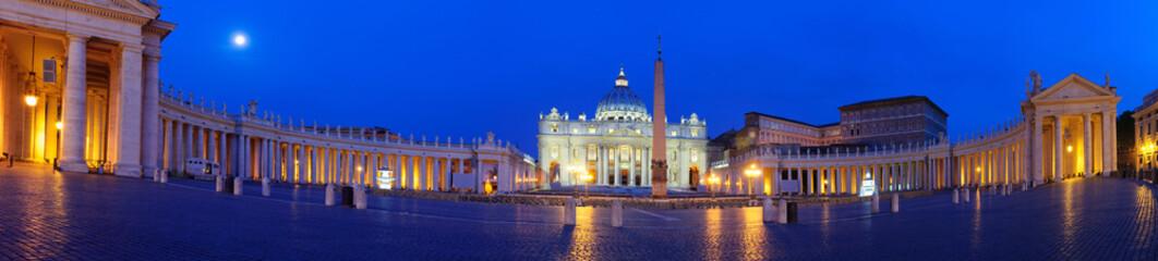 Poster Bleu fonce Roma Piazza del Vaticano San Pietro